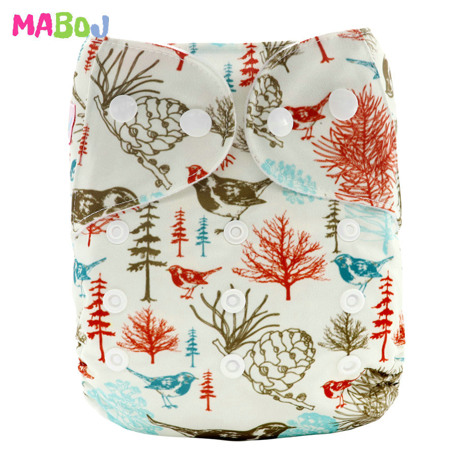 MABOJ Diaper Baby Pocket Diaper Washable Cloth Diapers Reusable Nappies Cover Newborn Waterproof Girl Boy Bebe Nappy Wholesale - Цвет: PD5-5-20