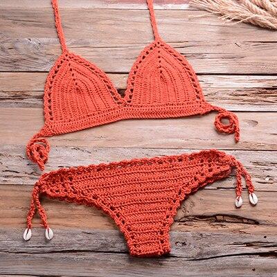Organic Crochet top Knitted swimweat Crochet beachwear Handmade homewear Cozy suit Crop top Organic clothes