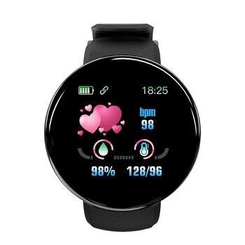 Tela colorida relógio inteligente freqüência cardíaca pressão arterial saúde faixa de fitness esporte pulseira unisex tt @ 88 1