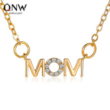 Fashion Gold Mom Personalized Letter Name Choker Necklace for Women Pendant Jewelry Mother Birthday Necklaces Accessories Gift недорого