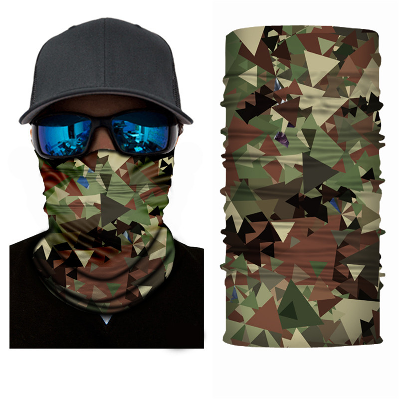 High-Jump Hiking Skiing Scarf Polyester Windproof Neck Cover Face Mask Army Military Tactical Terrking Bandana Scarf Pipe Men