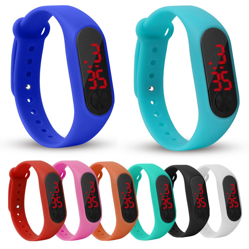 Outdoor LED Number Display Outdoor Sports Digital Kids Wrist Watch Wristband