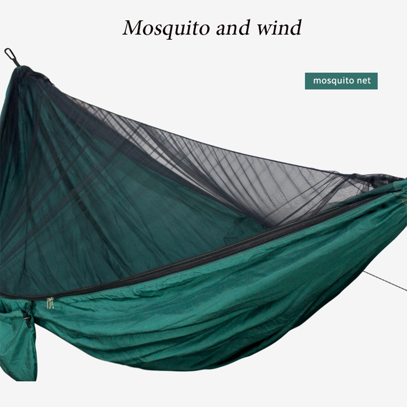 2020 Outdoor Sleeping Swing1-2 Person Outdoor Mosquito Net Parachute Hammock Camping Hanging Sleeping Bed Swing Portable Hammock
