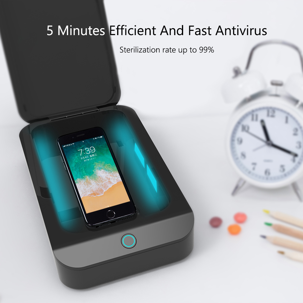 X2 UV Sterilizer Box Mouth Mask Jewelry Phone Toothbrush Watch Cleaner Personal Sanitizer Disinfector Case For 6-inch Items
