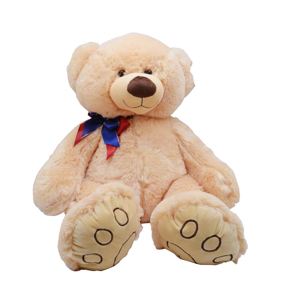 Высокое Качество 50 СМ Белый Цвет Медведя С Шарфом Чучела Животных Медведь Плюшевые Игрушки Медведь Кукла Любителей Подарок На День Рождени
