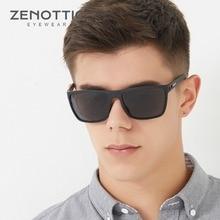 ZENOTTIC lunettes de soleil polarisées rétro TR90 pour hommes, UV400, grande monture carrée Anti éblouissement pour la conduite, 2020