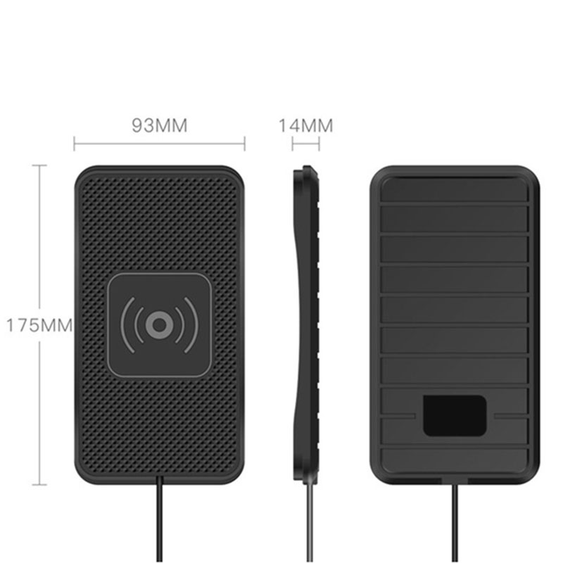 dropshipping Car Wireless Charger Skid proof Silicone Mat Phone Charging Pad Fast Charge OE88 in Universal Car Bracket from Automobiles Motorcycles