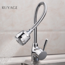 Kitchen Faucets 360Degree tap for kitchen Rotatable Spout Single Handle kitchen spigots Sink Basin Adjustable Solid Brass