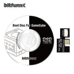 Adaptador de cartão bitfunx sd2sp2 sd/tf, para nintendo gameqube e bota suíça, mini disco de jogos de carga dvd
