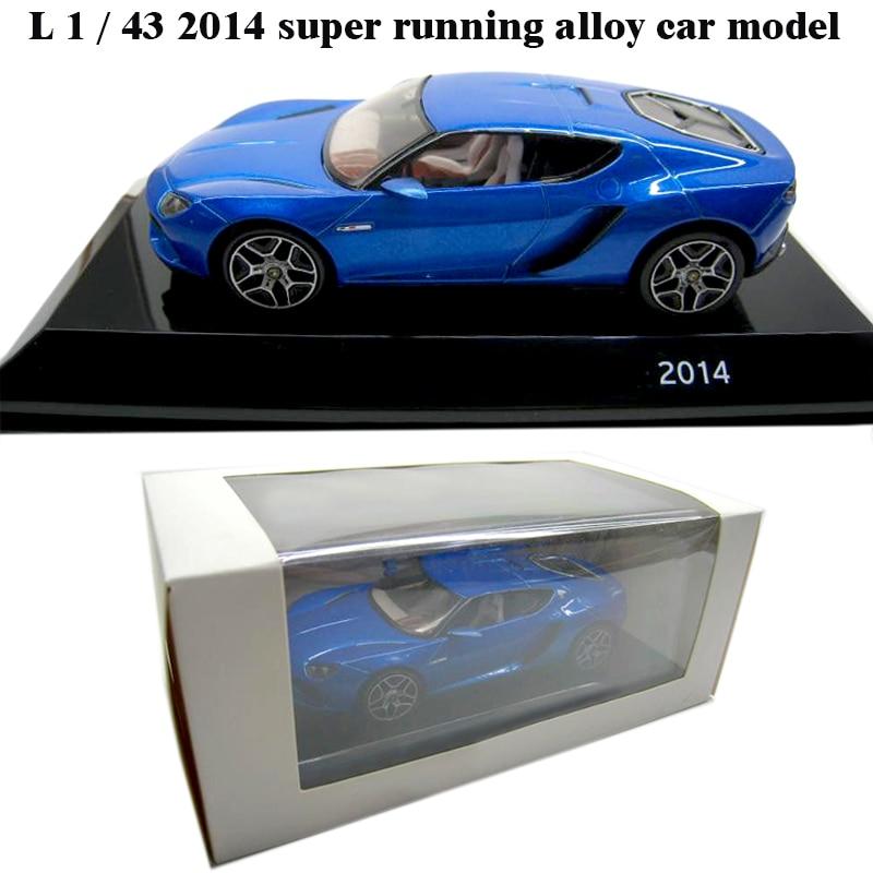 L 1 / 43 2014 Super Running Alloy Car Model  Collection Model