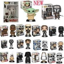 Фигурки игрушечные FUNKO, поп Звездные войны, Дарт Вейдер, Люк Скайуокер, Leia, экшн-фигурки, модель