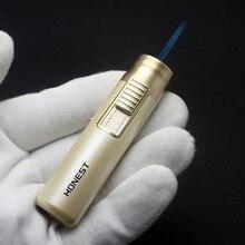 Torch Turbo Jet Metal Butane Gas Lighter Strip Windproof Cigar Cigarette Lighter 1300 C Fixed Fire Portable Gadgets For Men недорого