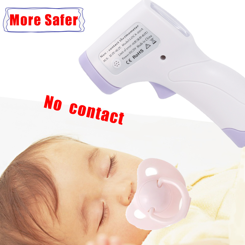 2020 Baby Forehead Thermometer Digital Temperature Measurement Non-Contact IR Body Fever Infrared Thermometer Gun Baby Kids