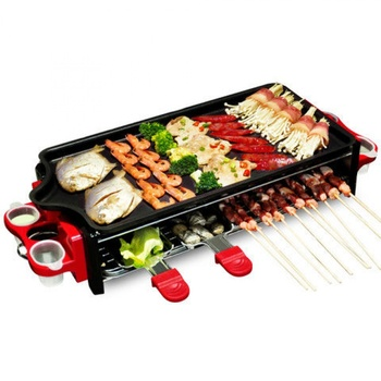 Electric Grill Household Smokeless Electric Grill Barbecue Pot Grill Korean Grill Machine Barbeque Grill Electric Grill