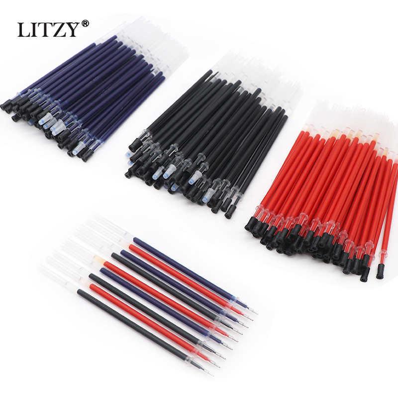 3 + 50 قطعة/الوحدة هلام القلم 0.5 مللي متر أسود/أزرق/أحمر الحبر أقلام للمدرسة أدوات الكتابة Kawaii القرطاسية محايد عبوات اللوازم المكتبية
