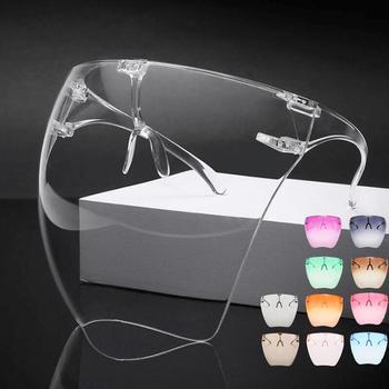 Kolorowy przezroczysty ochronny maska pełna twarz tarcza pyłoszczelna gogle okulary ochronne maska przeciwpyłowa kuchnia anty-olej anty-dym tanie i dobre opinie CN (pochodzenie) Narzędzia specjalne Ekologiczne Na stanie Z tworzywa sztucznego CE UE okulary do krojenia cebuli 140 mm