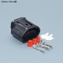 Shhworldsea 3 Pin 2,2 мм 6188-0282 женский черный разъем генератора электрическое гнездо для фары для Toyota Lexus