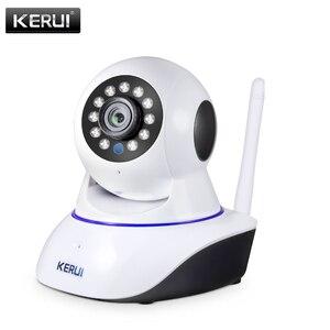 Image 1 - KERUI cámara IP inalámbrica para interiores 720P, 1080P, HD, visión nocturna, WIFI, IP, seguridad del hogar, detección de movimiento por infrarrojos, vigilancia