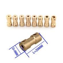 2mm/2,3mm/3mm/3,17mm/4mm/5mm/6/6 35mm latón rígido del eje del Motor acoplamiento acoplador de Motor transmisión conector con tornillos llave