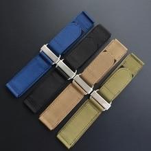 Thick 24mm Army Green  Blue Khaki Black Nylon Watch Strap For Bell Rose BR01 BR03 PAM  pam441 pam111 Watchband Bracelet Belt