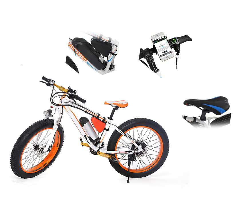 EcoRider E6-5 E6-5 48v 26inch 2 wheel Electric bicycle Big Fat Tire Snow E bike Off Road Bicycle ( Sample Free Postage) 7