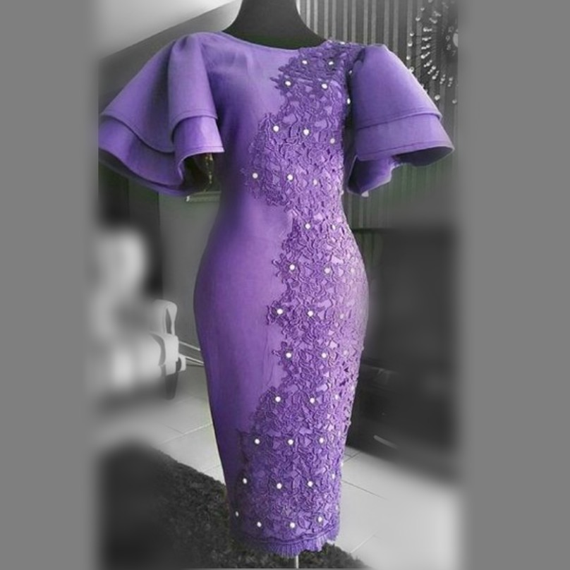 Tea Length Mermaid Evening Dresses Jewel Neck Short Sleeves Cheap Prom Dresses With Lace Appliques Beads Dubai Robe De Soiree