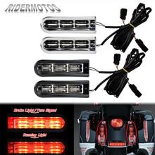 Motorcycle Accent Saddlebag Filler Inserts Support LED Lights For Harley Touring FLHX FLHR Street Glide Road King CVO 2014 2020