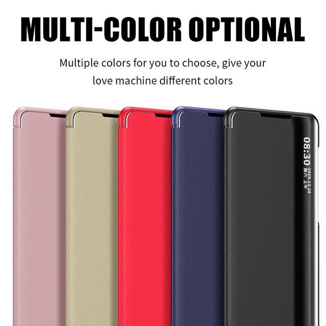 Smart View Flip Case For Huawei P40 Pro P20 P30 Y5 Y6 Y7 Y9 Prime 2019 P smart Z PIus Mate 30 20 10 Lite Honor 9X Pro 8X Cover 4