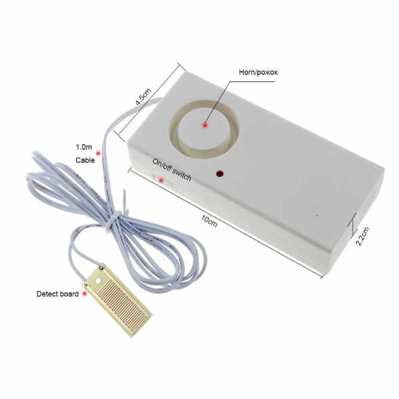 130db 누수 경보 감지기 물 경보 누출 센서 감지 홍수 경보 오버플로 홈 보안 경보 시스템