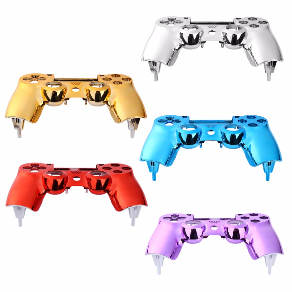 Plating Front Housing Shell <font><b>Case</b></font> Cover For <font><b>PS4</b></font> Controller <font><b>Case</b></font> Cover for PlayStation 4 DualShock 4 Controller Gamepad image
