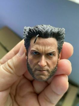 Best Sell 1/6 Scale Wolverines Jackman Male Head Sculpt Carving Fit 12