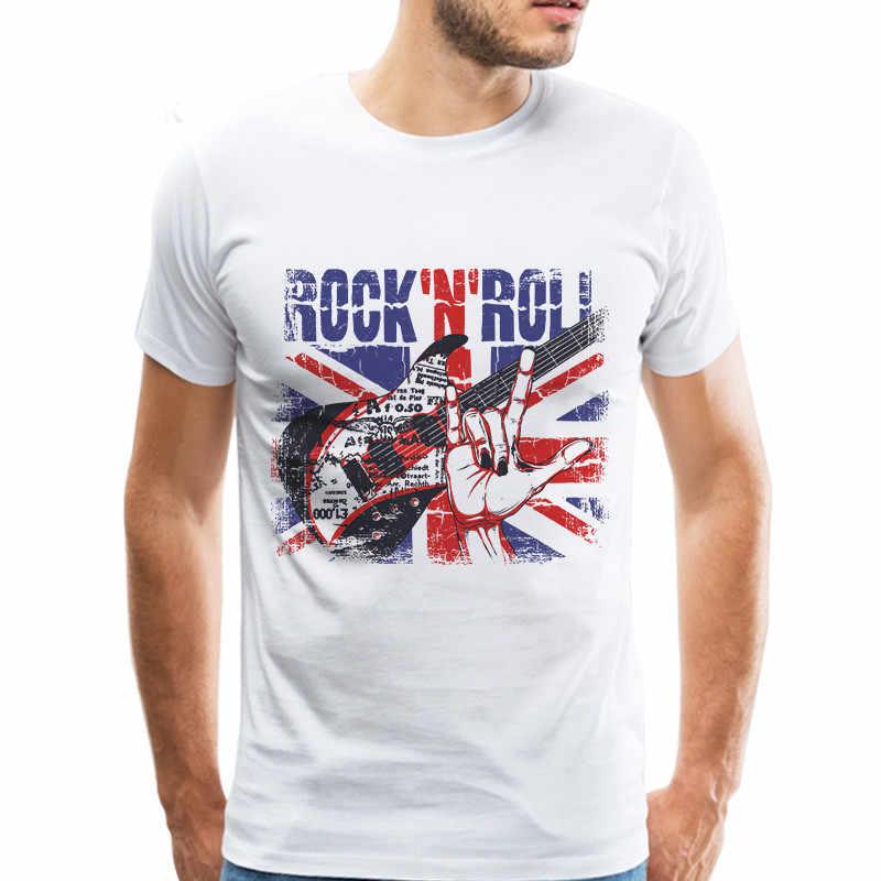Fajne gitary muzyk T Shirt mężczyźni moda gitarzysta Rock Roll Slash koszulki koszulka biały t-shirt dla chłopca gitary kochanka prezent