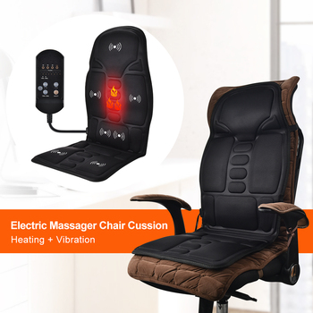 Electric Heating Full Body Massage Car Chair Office Massage Lumbar Neck Pain Relief 7pcs Powerful Motors Vibration Stimulating 4