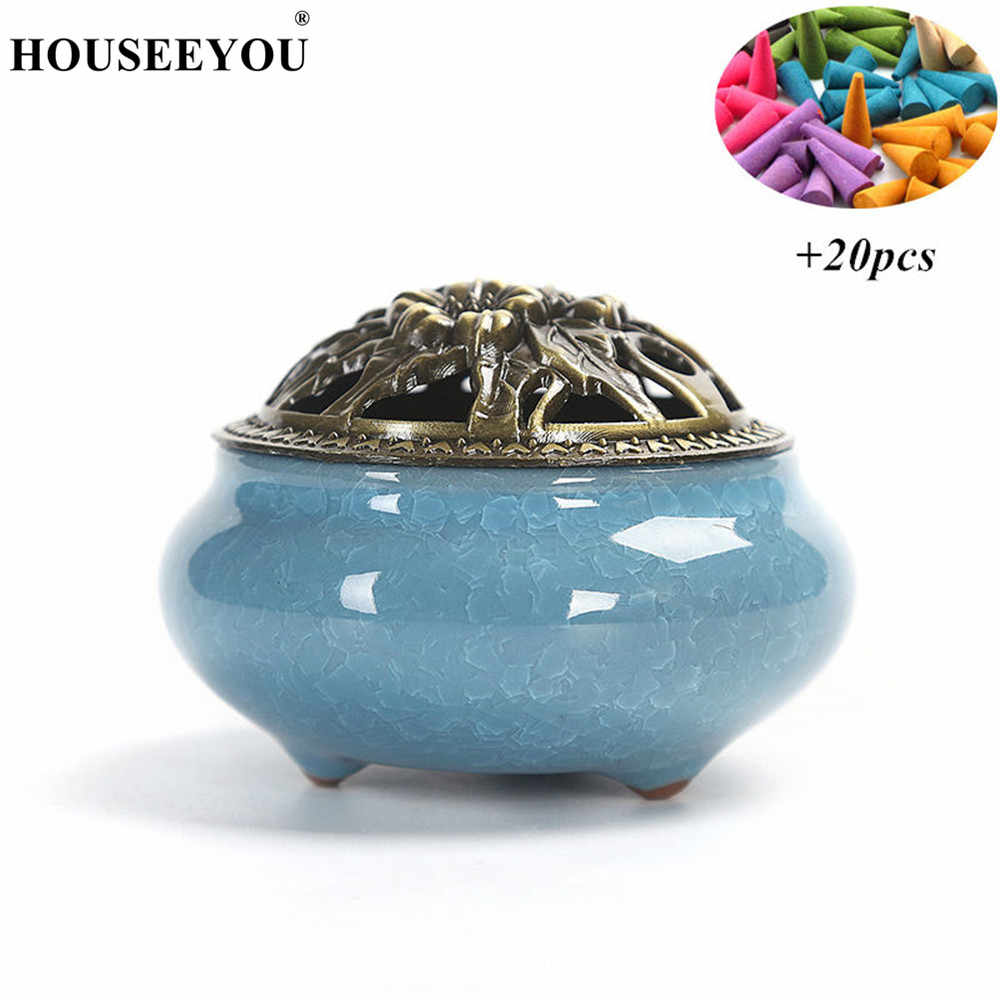 Scented Candles Aroma Perfume Cones Coil Burner Tower Candle Velas Incense Censer Stove Oven for Home Office Buddhist Temple Use