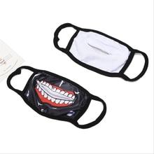 1PCS Cotton Dustproof Mouth Face Mask Anime Zipper Cartoon Kpop Fashion Tokyo Ghoul Women Men Muffle Face Mouth Masks