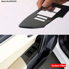 Car Door Chrome Window Lift Switch Button Inside Handle Frame Trim Cover For Toyota Corolla 2017 2018 2019 Accessories
