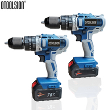 21V Cordless Screwdriver Electric Screwdriver 13mm Drill Tool Electric Impact Drill Wireless Drilling In Steel Wood Ceramic hammer drill electric redverg rd rh1500 power 1500 w drilling in concrete to 36mm антивибрационная system