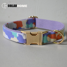 gold personalized bow dog collar pet leash adjustable necklace with tie for small big dogs factory price camouflage style