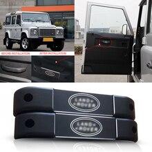 Trim Door-Handle-Cover Defender 110 Car-Accessories Grab Black for Aluminum-Alloy 90