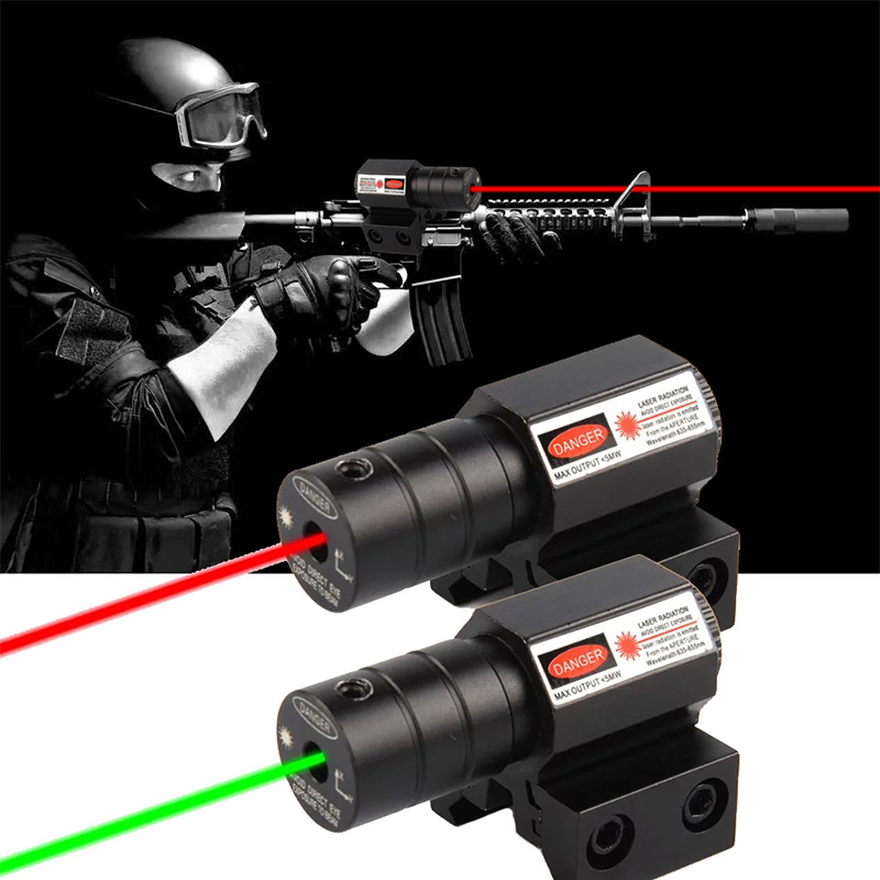 Hunting Tactical Red Dot Green Laser Scope Airsoft Rifle Mirror Hunting Adjustable 11mm/20mm Picatinny/Weaver Mountain Mount Las