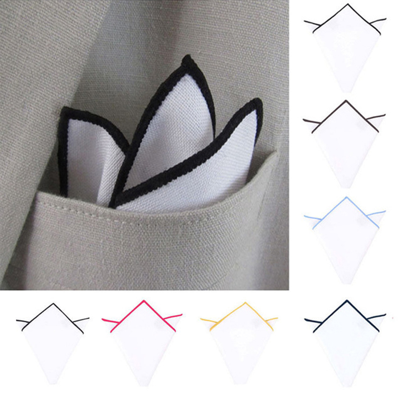2020 Men White Handkerchief Suit Pocket Towel Accessories Wedding Banquet Anniversary Commercial Hanky