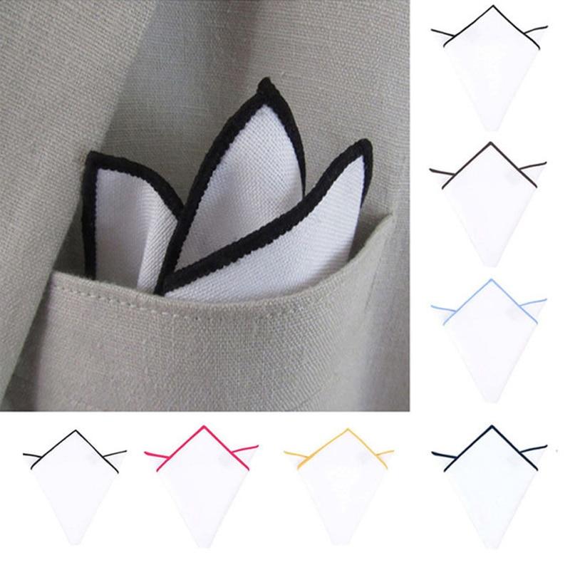 2020 Men White Handkerchief Suit Pocket Towel Accessories Wedding Banquet Anniversary Commercial Hanky