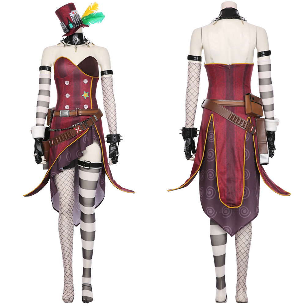 <font><b>Borderlands</b></font> 3 Moxxi Cosplay Costume Halloween Carnival Costumes Uniform Outfit Suit For Adult Women Girls Dress image
