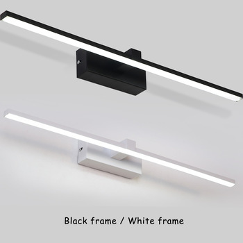 Modern LED Wall Lamps For Bathroom Bedside Lights New Arrivals Mirror Front Light Black&White Frame LED Wall Lights Indoor Light neo gleam bedroom bathroom led mirror light ac110 240v white black gold wall lamps aluminum modern makeup mirror lights