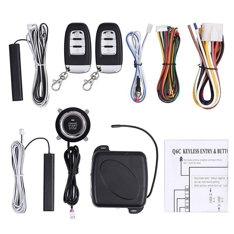Car Alarm Remote Control Car Keyless Entry Engine Start Alarm System Button Remote Starter Stop Security System Set