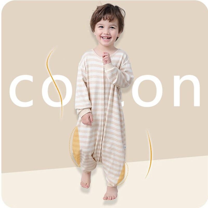 New Cheap Baby Cotton Breathable Sleeping Bag For Summer Spring Autumn, Toddler Kids Pajamas Newborn Jumpsuit, Saco De Dormir