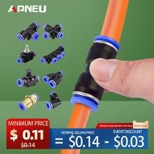 Conector neumático para tubo de conexión de manguera, compresor de junta de plástico, tubo de liberación rápida de empuje para 4mm, 6mm, 8mm, 10mm, 12mm, Pu Py