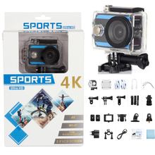цена на Ultra HD 4K Action Camera WIFI 2.0 Screen 4K Sports Camera 12MP 170 Wide Angel Lens Mini Helmet 30M Waterproof Sports DV Camera