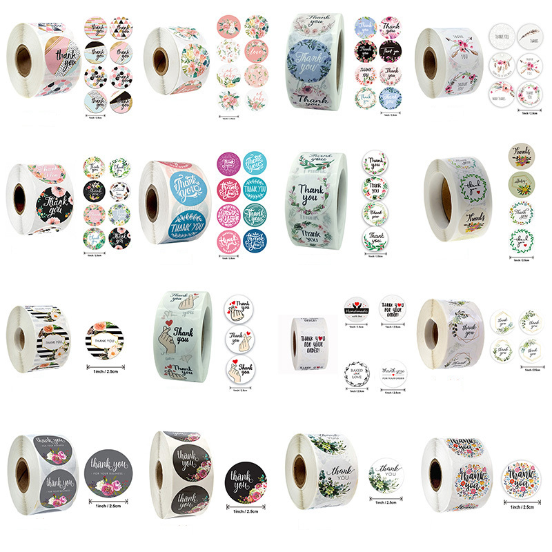 500pcs Kawaii Scrapbooking Stationery Stickers Child Birthday Christmas Present Packaging Seal Festival Party Decorative 064002