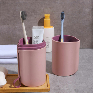 Image 2 - Portable Family Travel Toothbrush Case Capsule Toothpaste Box Mouth Mug Travel Toothbrush Storage Box Wash Cup Set